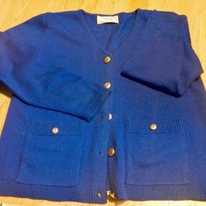 Size 8 Laura Petites by Alyzia Blue Sweater